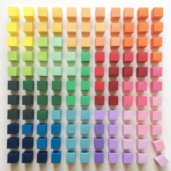 E nós terminamos com estes cubos pequenos maravilhosos e cuidadosamente organizados… | 16 fotos que são praticamente pornografia para quem ama cores