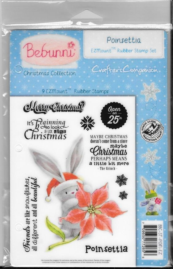 Bebunni stamp set  Poinsettia   NEW  by CynthiasCraftingNook