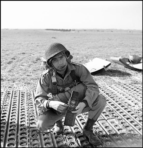 Photographer Robert Capa during WWII.
