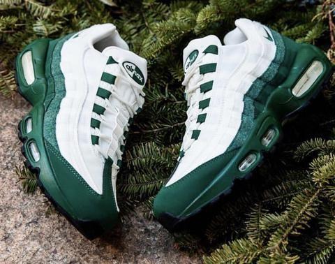 NIKE AIR MAX 95 FOREST GREEN WHITE | Nike air max 95, Nike air max ...