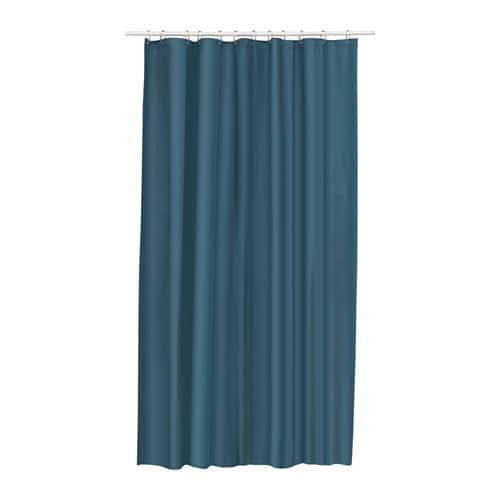 Borghild Sheer Curtains 1 Pair White 57x98 Blue Shower