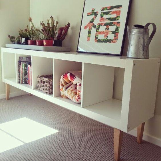 Étagère Ikea transformé en un meuble !