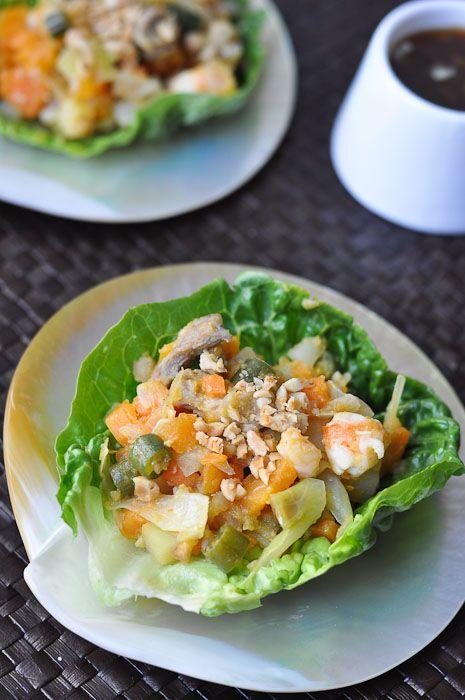 'Naked' Shrimp Spring Rolls (Lumpiang Hubad) by trissalicious #Salad #Spring_Rolls #Shrimp #trissalicious