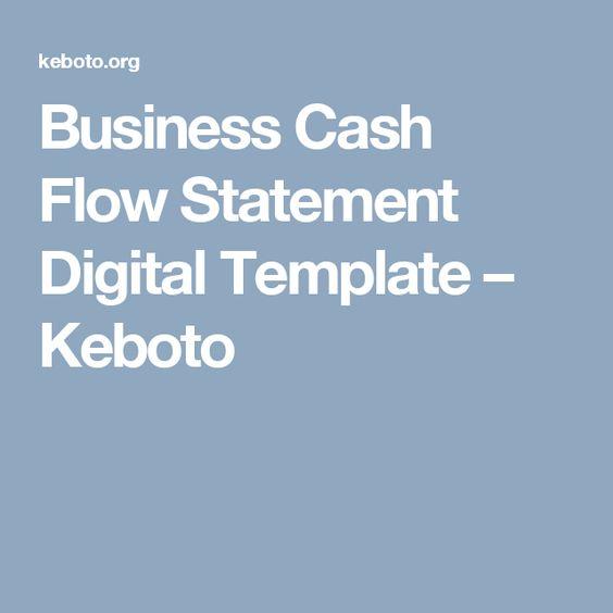 Business Cash Flow Statement Digital Template u2013 Keboto Templates - cash flow statement