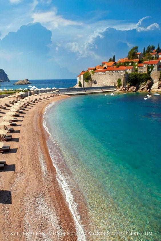 Sveti Stefan Beach, Budva Riviera, Montenegro