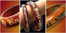 Engraved Koa bracelets