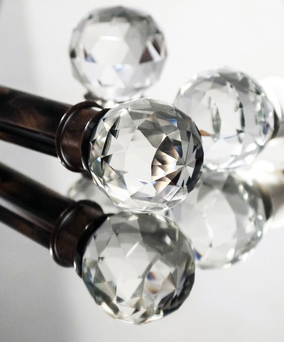 Crystal Ball Finials From The Affinity Collection By