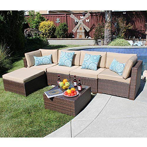See Sunsitt Outdoor Sectional 6 Piece Patio Furniture Set All