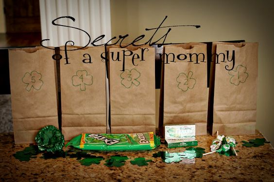 Send your kids on a Shamrock Hunt.  I am going to do this on a family night well before St Pattys day.  There are so many fun things to do that I need to space out the FUN!!