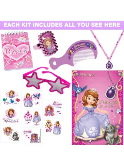 Sofia the First Deluxe Favor Kit - Party Supplies & Favors from Birthday in a Box