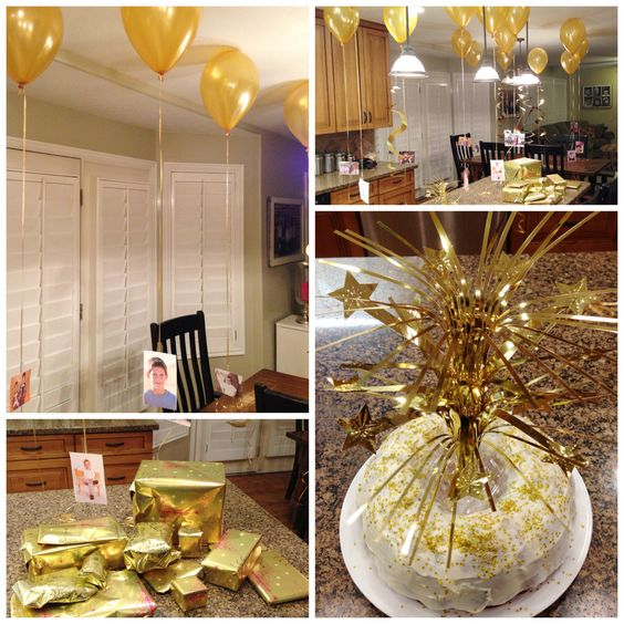 Golden birthday the o 39 jays and 15th birthday on pinterest for 15th birthday party decoration ideas