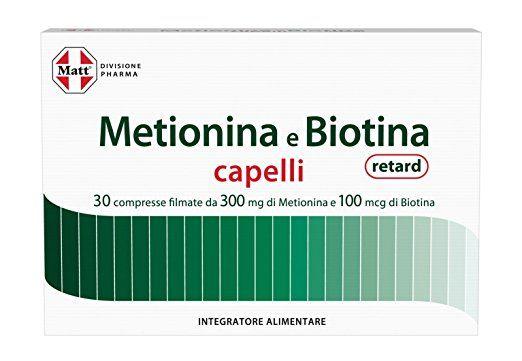 Matt Divisione Pharma Metionina e Biotina Retard Capelli - 31 gr