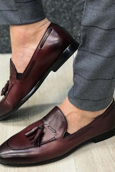 Mens Shoes Handmade Shoes Classic Style Men Casual Shoes Vintage Tassel Genuine Leather Mens Shoes Moccasins Fashion