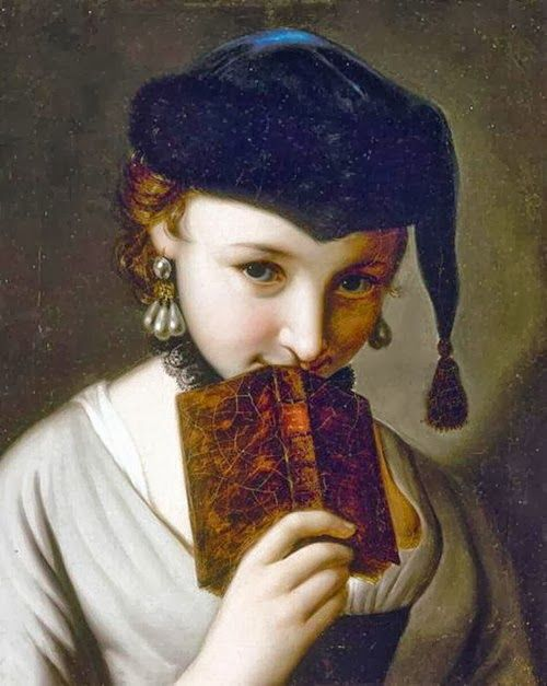 Pietro Antonio Rotari (Italian artist, 1707-1762) Young Lady with a Book: