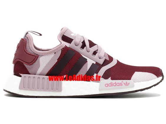 Adidas NMD R1 w - Originals Adidas Pas Cher Pour Homme/Femme Blanch Violet/Blanc…
