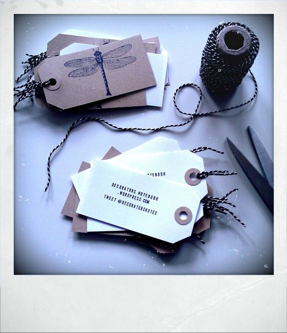 DIY luggage tag business cards | A business, Card ideas and Gift tags