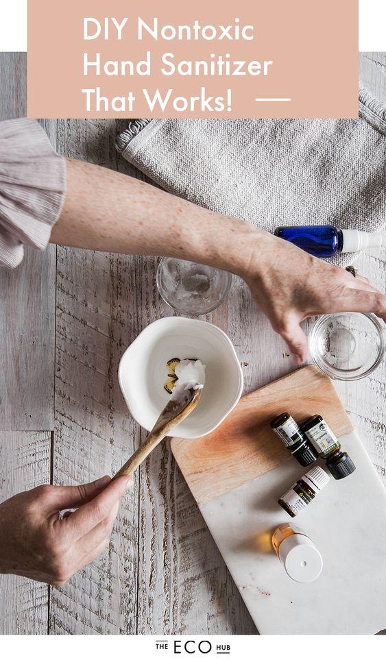 Diy Non Toxic Hand Sanitizer Recipe Hand Sanitizer Good Skin