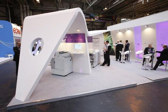 Exhibition Stand Builders Kent : Riso exhibition stand design and build by vivid pixel at