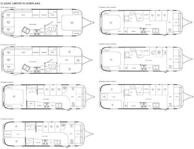 Airstream Floor Plans Airstream Classic Limited travel trailer RV