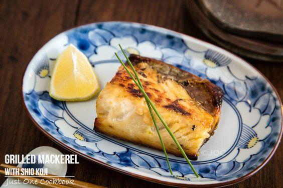 Grilled Mackerel with Shio Koji 塩麹の鯖の塩焼き | Easy Japanese Recipes at JustOneCookbook.com