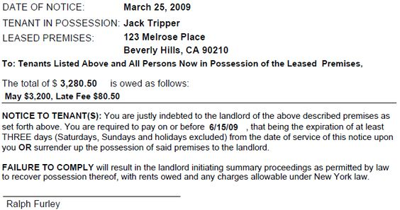 Eviction Notice Forms \ Legal Eviction Warnings EZ Landlord - eviction letter to tenant
