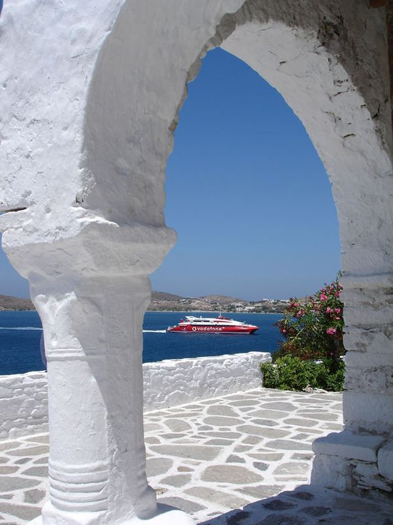 Arriving at Paros #Cyclades #Greece