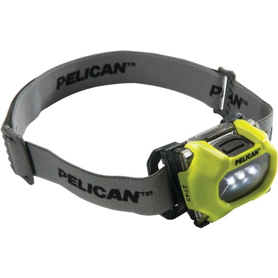 Pelican 33 And 17-lumen 2745 Safety Approved 3-mode Led Headlight (yellow). 33 Lumens On High 17 Lumens On Low1 High-powered LED35m Beam Distance On High 25m Beam Distance On Low309 Candela On High 155 Candela On Lowhigh and low and flashing Light Modesultracompact & Lightweightovermolded Headplate For Added Comfortconvenient Rubber Strap For Use On User's Helmet & Cloth Strap For Use On User's Headpivoting 45 Headapproved For Class 1 Division 1 Standards For Hazardous…