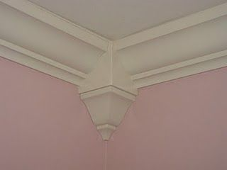 Easy diy crown molding- no miter necessary- buy straight from Lowes