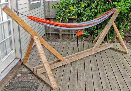 DIY hammock stand: Backyard Garden Ideas, Hammock Stand, Hammock Ideas, Yard Project, Diy Outdoor, Backyard Outdoors, Craft Ideas, Crafty Ideas