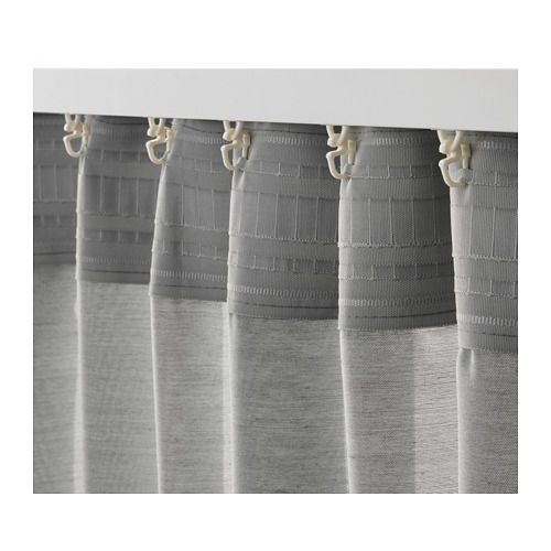 HILJA Cortina, 1par, gris, 145x300 cm IKEA