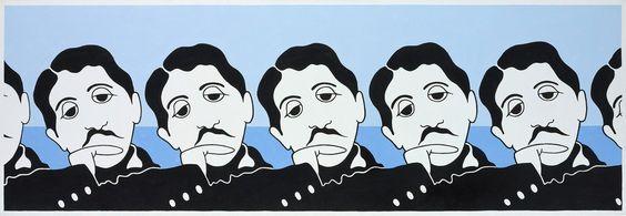 John-Wesley,-Marcel-Proust,-1984,-acrylic-on-canva