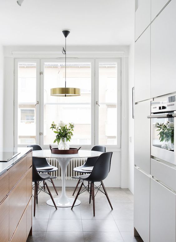 Is To Me interior inspiration: white and wood kitchen-dining room