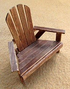 My Sylvanian Wardrobe: An Outdoor Chair how made with some instructions