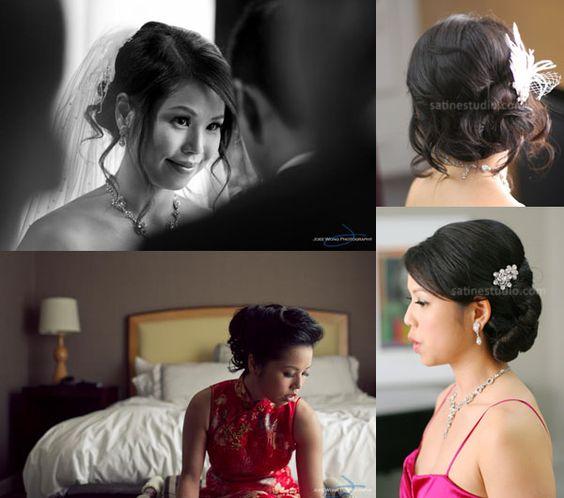 Asian bridal makeup and hair updo, Toronto,Markham