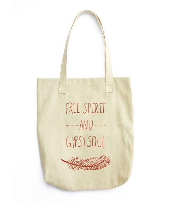 Hippie Free Spirit And Gypsy Soul Boho Shopping Tote Bag