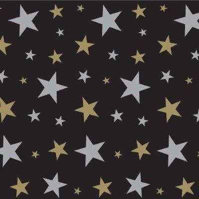 Beistle 52102 Star Backdrop, 4-Feet by 30-Feet