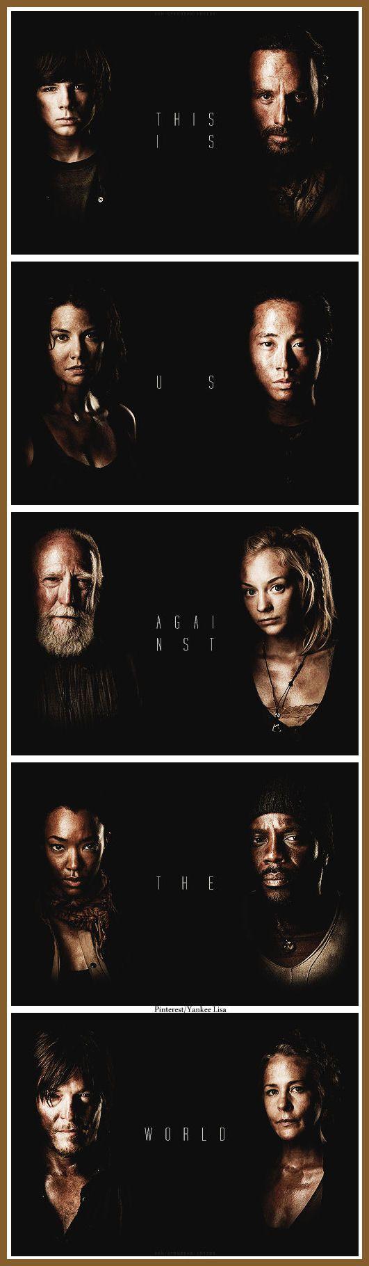 Rick Grimes - Carl Grimes - Daryl Dixon - Carol Peletier - AMC's The Walking Dead