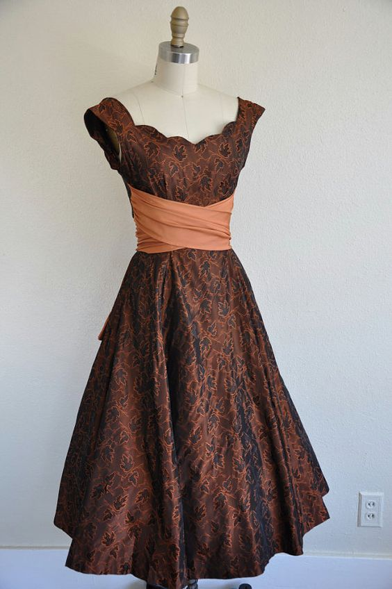 r e s e r v e d...vintage 1950s cocktail dress/ 1950s 50s jacquard ...
