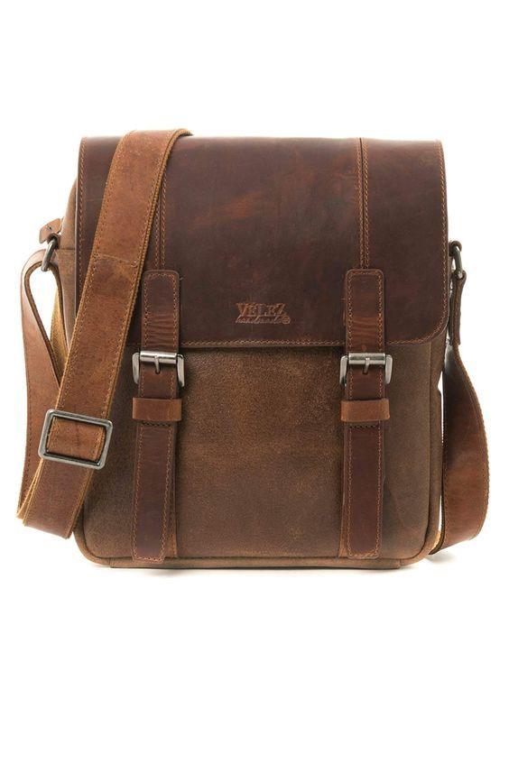 "18/"" Best Leather Unisex Leather Messenger Bag for Laptop Book bag Briefcase"
