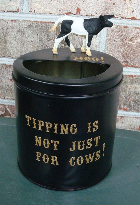 Tip Jar Tipping is Not Only For Cows Eyecatching by TipJarsAreUs, $14.99