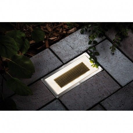 Encastr rectangle solaire led pour terrasse spot et for Led solaire terrasse