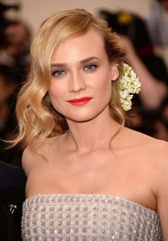 The 23 most unforgettable beauty looks from the Met Gala 2015 red carpet–Diane Kruger.