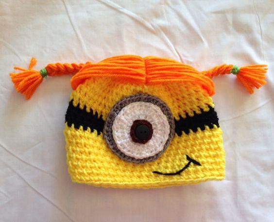 Free Crochet Pattern For Girl Minion Hat : Girl minion crochet hat Minion crochet, Girls and Minion ...