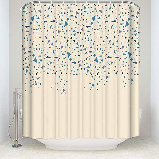 シャワーカーテン 浴室 間仕切り 防水 防カビ リング付属 風呂用
