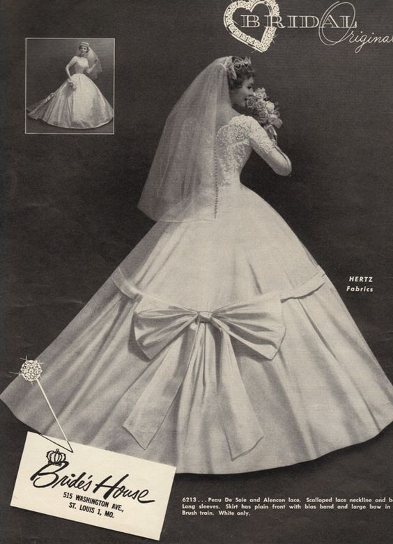 1960's wedding gown