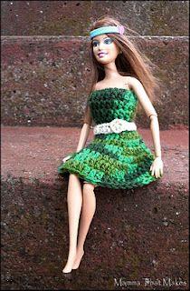 Mamma That Makes: Crochet pattern - Barbie Garden Dress