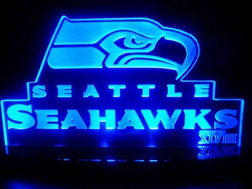 Nfl Seattle Seahawks Super Bowl 48 Led Desk Lamp Night