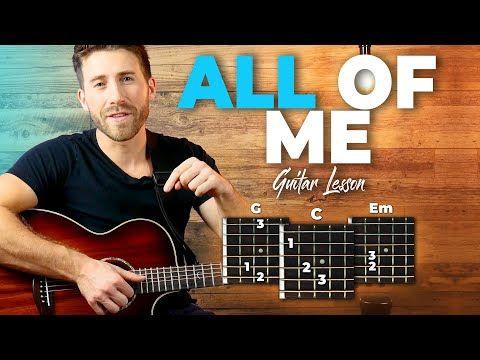 All Of Me Guitar Tutorial John Legend Easy Chords Guitar Lesson Youtube Guitar Lessons Guitar Tutorial Guitar Chords