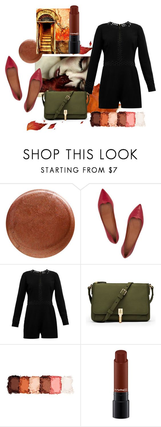 """Otoño"" by amores-anam ❤ liked on Polyvore featuring rms beauty, Tomas Maier, Ted Baker, Elizabeth and James and NYX"