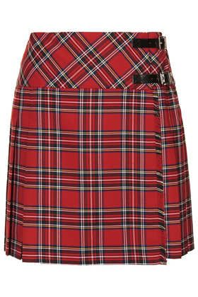 Red Pleated Tartan Kilt - Full & Skater Skirts - Skirts  - Clothing